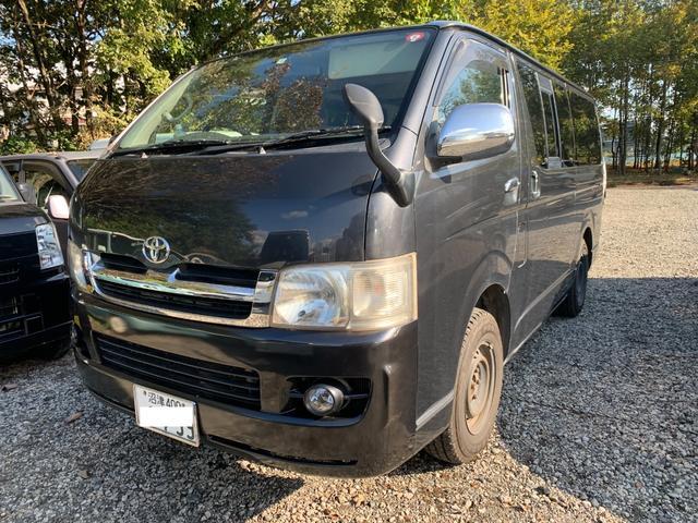 トヨタ ロングスーパーGL ディーゼル 4WD ベットキット HDDナビ Bluetooth  車内ラック棒 ウインドーネット シェード