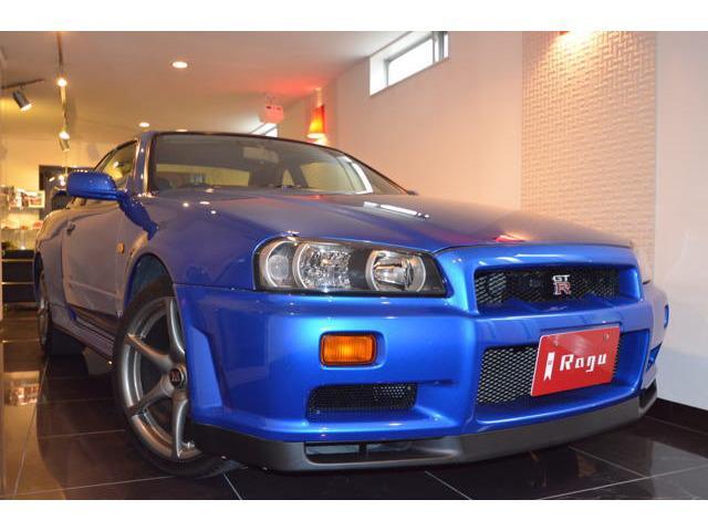日産 GT-R ワンオーナー車 禁煙車 ベイサイドブルー フルノーマル