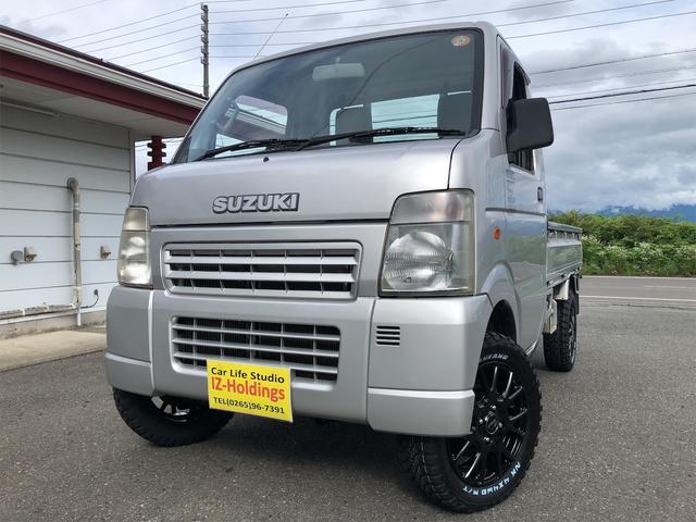 スズキ KCエアコン・パワステ 4WD リフトアップ 新品マッドタイヤ&アルミ 車検整備済み