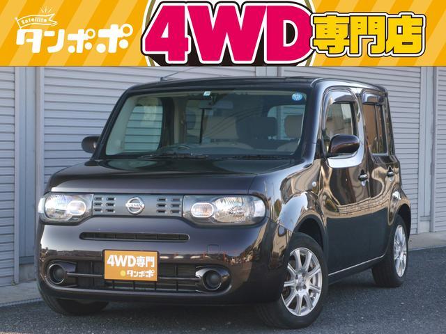 日産 キューブ 15X FOUR 4WD CDデッキ キーレス 社外アルミホイール