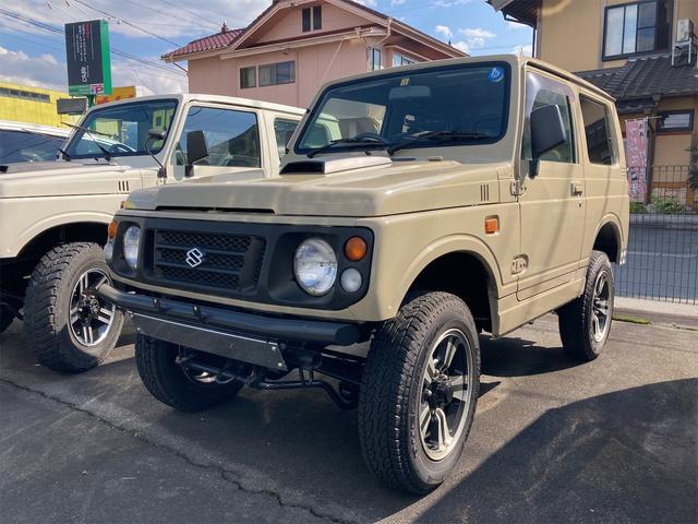 スズキ ジムニー ワイルドウインド 4WD ETC CD MD オートマ ターボ アルミホイール リフトアップ FRバンパー 色替車