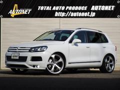 VW トゥアレグHV 4WD エアロTECHART22AW茶革サンルーフ