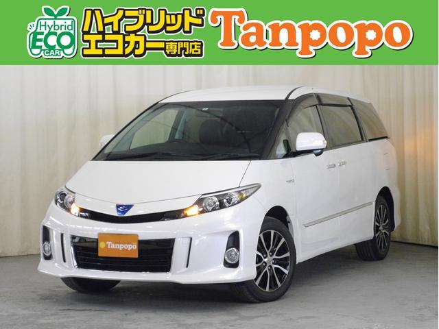 トヨタ アエラス レザーパッケージ 4WD 純正HDDナビ TV