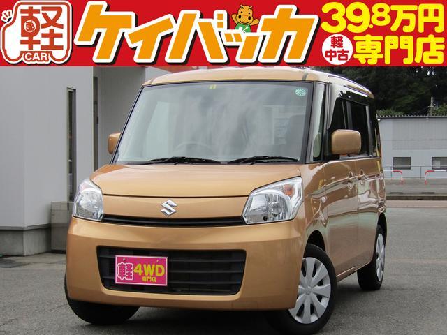 スズキ X 4WD ナビ TV 左パワースライドドア シートヒーター スマートキ ベンチシート アイドリングストップ 電格ミラー