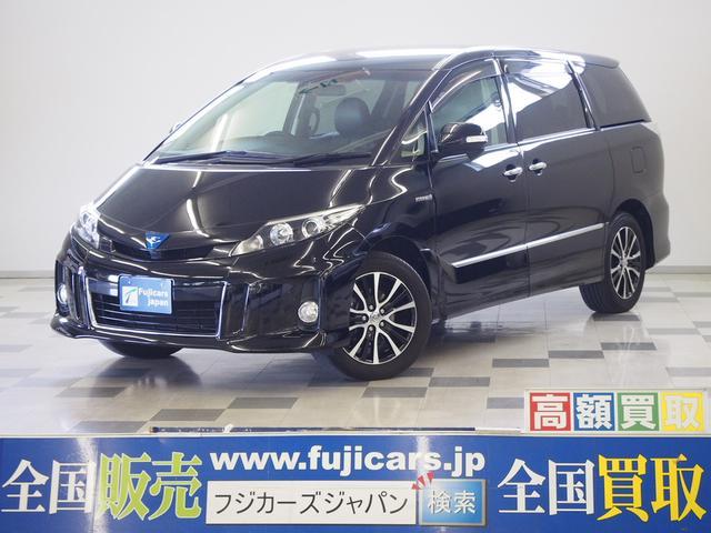 トヨタ アエラス レザーPKG 天吊モニター 黒革 電格サードシート