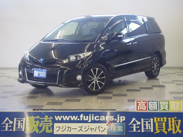 トヨタ アエラス レザーPKG 天吊モニター 黒革 電格シート