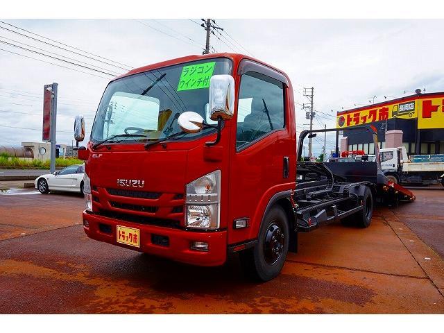 いすゞ 3.4t 高床 ワイド超ロング キャリアカー 車載