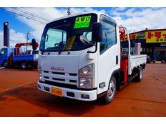 エルフトラック2t 4WD FFL 標準ロング 3段クレーン付