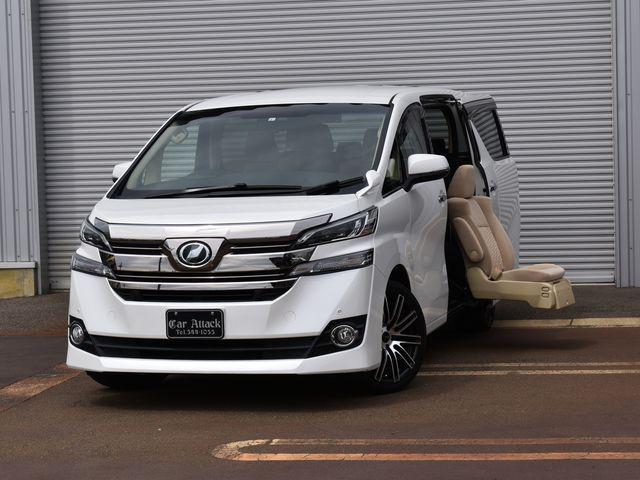 トヨタ ヴェルファイア 2.5X サイドリフトアップシート車 4WD 純正10インチナビTV バックカメラ 純正フリップダウンモニター