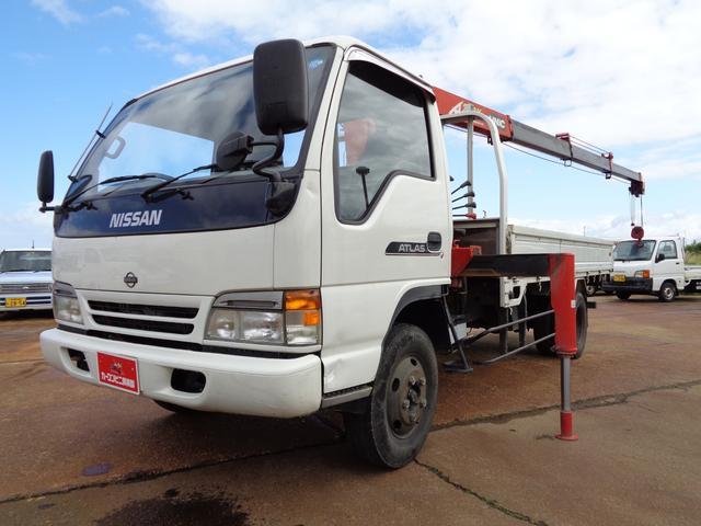 日産 アトラストラック 平クレーン 4段 ワイド 超ロング 積載2.75t