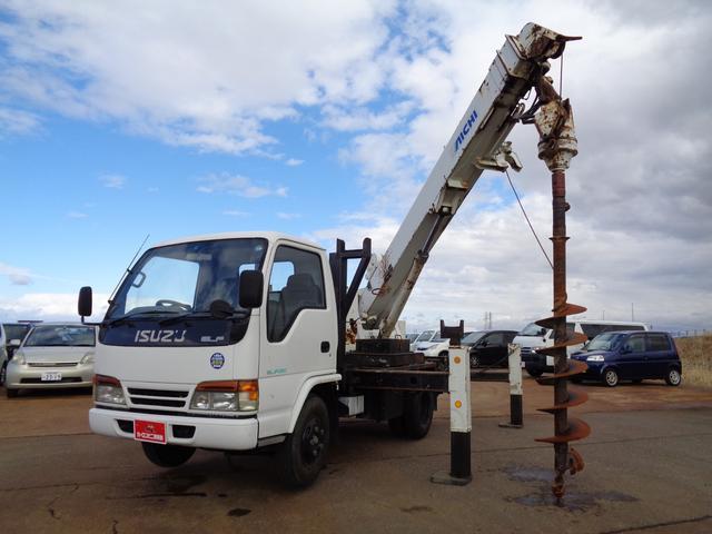 穴掘り建柱車 アイチ D502 ドリルオーガ付 エアコン(1枚目)