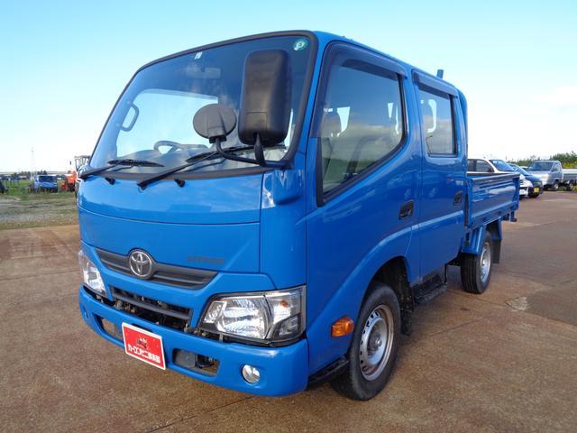 トヨタ ダイナトラック  Wキャブ 4WD 積載1t AC パワステ ETC 車両総重量 3.5t未満 スタッドレスタイヤセット付 ADF- 3次排ガスクリア ターボ