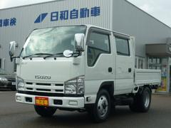 エルフトラックWキャブフルフラットロー4WD 5MT 積載1.5t 6名乗