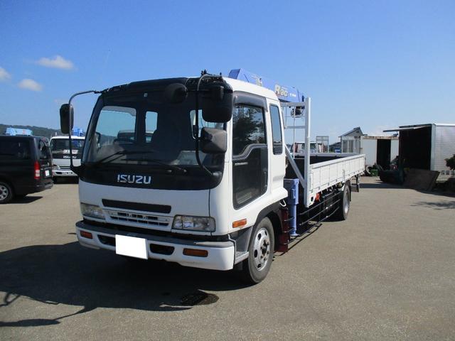 いすゞ フォワード  4段クレーン ラジコンフックイン 増トン車 積載量5700kg