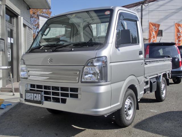 スズキ KCエアコン・パワステ エアコンパワステ 4WD 5MT マットバイザー3方プロテクター荷台マット付き