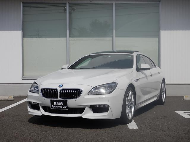 BMW 640iグランクーペ Mスポーツ ブラックレザー ガラスサンルーフ 19インチAW LEDヘッドライト ワンオーナー 1年間走行無制限保証