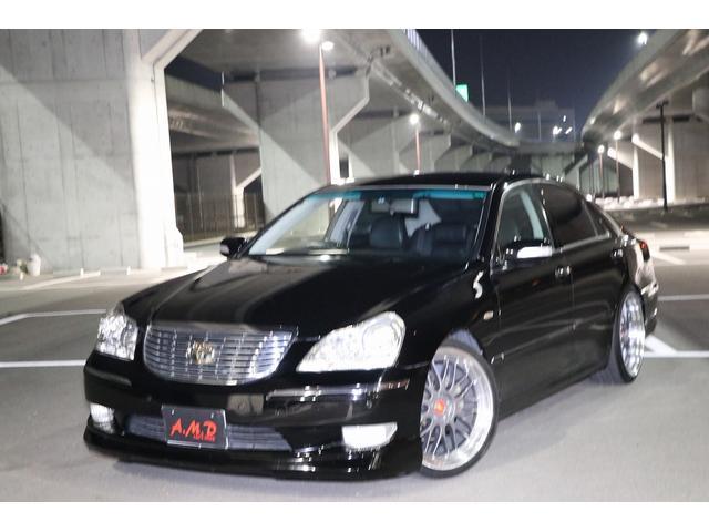 トヨタ Cタイプ 黒革 マルチ サンルーフ エアロ AW エアサスC