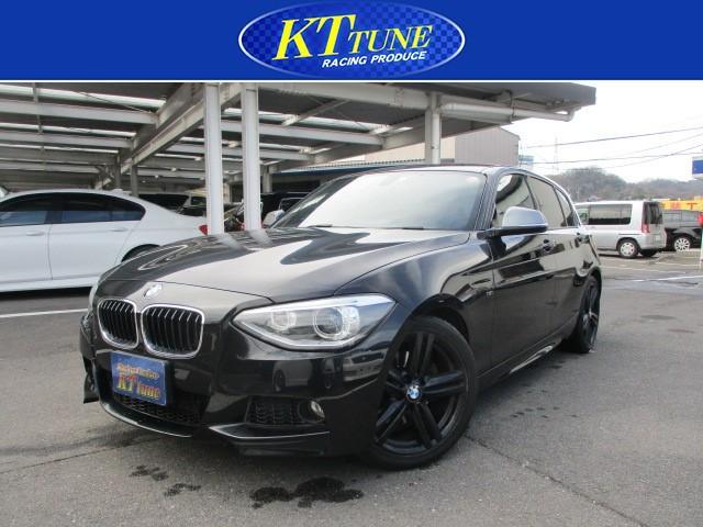BMW 116i Mスポーツ アイドリングストップ 純正18インチアルミ ETC 純正HDDナビ プッシュスタート HIDヘッドライト オートライト オートエアコン ウィンカー付き電動格納ドアミラー フロント・リアフォグランプ
