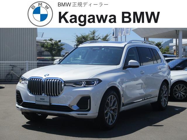 BMW xDrive 35d デザインピュアエクセレンス 7人乗り サンルーフ 本革シート 全周囲モニター BMWナイトビジョン 5ゾーン・エアコンディショナー 21インチAW 純正ナビ TV パワーシート シートエアコン・シートヒーター パワーバックドア