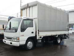 エルフトラック3t積載 ワイドロング 電動幌ウイング