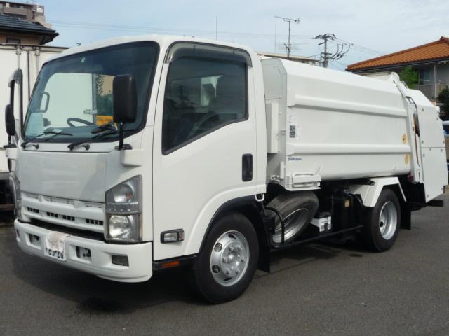 いすゞ エルフトラック 3.15トンプレスパツカー5.8M ステン張り