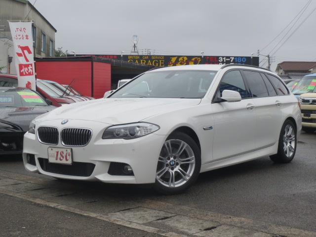 BMW 523iツーリング MスポーツPKG黒本革シート純正ナビ
