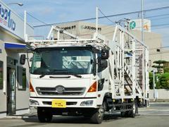 ヒノレンジャー4t 増トンワイド 4台積キャリアカー