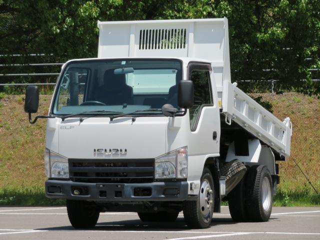 いすゞ エルフトラック 2t 高床 強化ダンプ