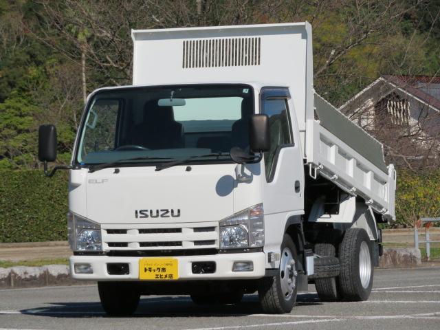 いすゞ エルフトラック 2t 全低床 強化ダンプ