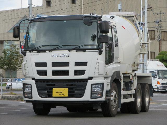 いすゞ ギガ 9.86t コンクリートミキサー 2デフ