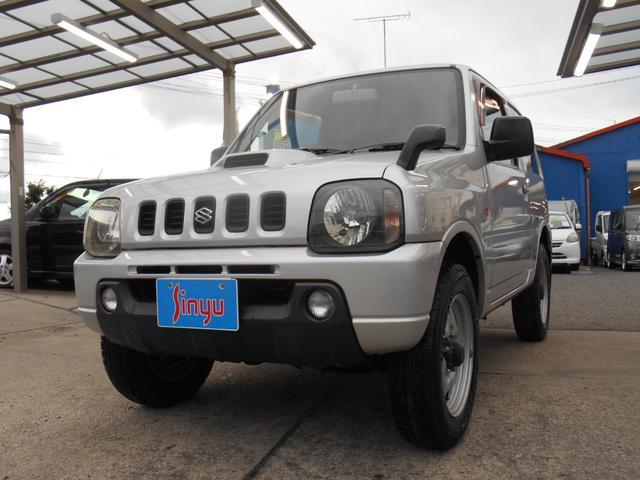 スズキ ジムニー XL 5速マニュアル CD 切替式4WD 衝突安全ボディ 外部入力付きオーディオ 集中ドアロック 内外装クリーニング済 フォグランプ パートタイム4WD