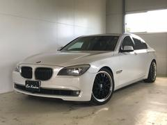 BMW740i サンルーフ 黒革シート 純正HDDナビ リアカメラ