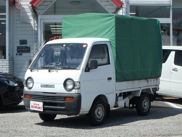 スズキ KU 3方開 ワンオーナー 荷台幌付き 4MT