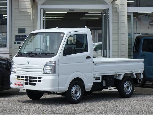 スズキ キャリイトラック KCエアコン・パワステ 届出済未使用車 3方開 4WD 5MT エアバッグ ABS ラジオ