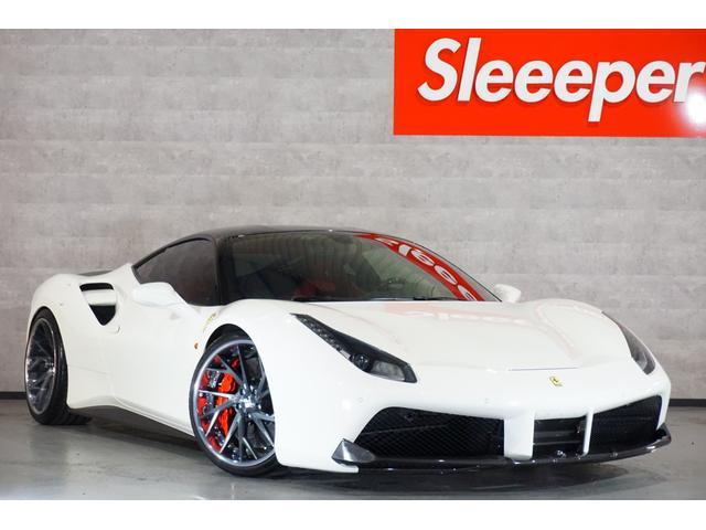 フェラーリ  OPカーボンレーシングシート OPルーフブラック OPカーボンSステップ OPカーボンディフューザー OPカーボンエアダクト OPカーボンLEDステアリング OPカーボンコンソール
