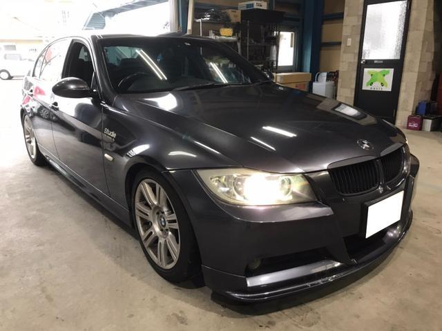 BMW 325i Mスポーツパッケージ sutudieエアロ ローダウン ナビ バックモニター ETC 社外マフラー