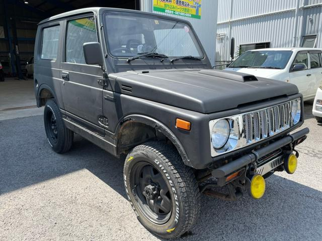 スズキ ジムニー ワイルドウインドリミテッド リフトアップ 5MT 4WD JA11改  フォグランプ