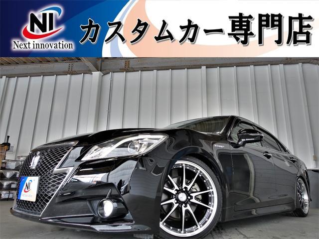 トヨタ アスリートS 新品車高調・新品19インチアルミホイール・新品タイヤ・クルーズコントロール・純正マルチナビ・Bluetooth・フルセグTV・HDD・バックカメラ・ETC・パワーシート・シートヒーター・Wエアコン・