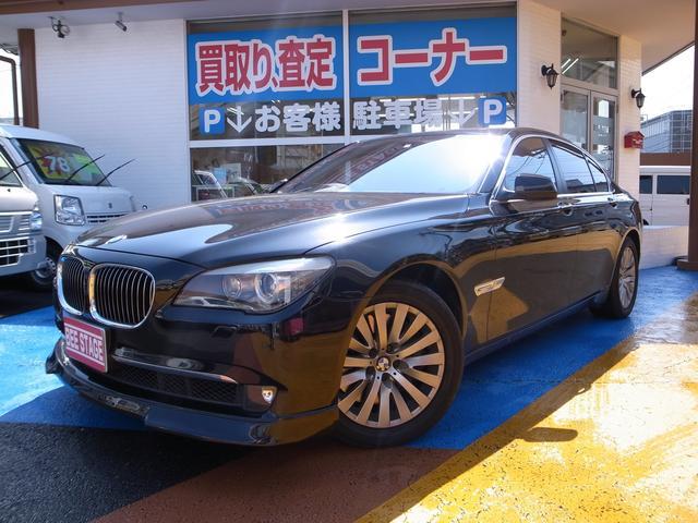 BMW 7シリーズ 750i 黒革シート サンルーフ ミラー型ドラレコ