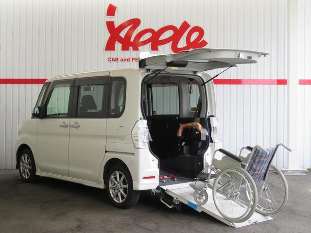 ダイハツ カスタムX SAII スローパー福祉車 電動ウインチ 鑑定車