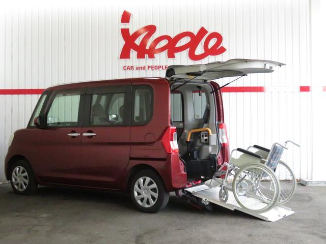 ダイハツ X SA 福祉車 スローパー 1オーナー 電動ウインチ ナビ