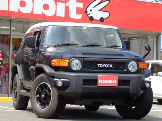トヨタ FJクルーザー ブラックカラーパッケージ 純正SDナビ フルセグTV バックカメラ キーレス Bluetooth クルーズコントロール リアソナー ETC 純正フォグライト