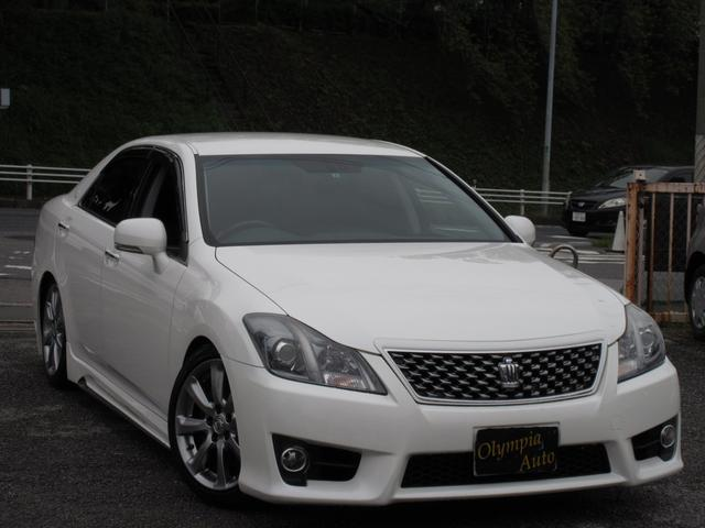 トヨタ 3.5アスリートHDDナビ本革エイムゲインエアロ車高調
