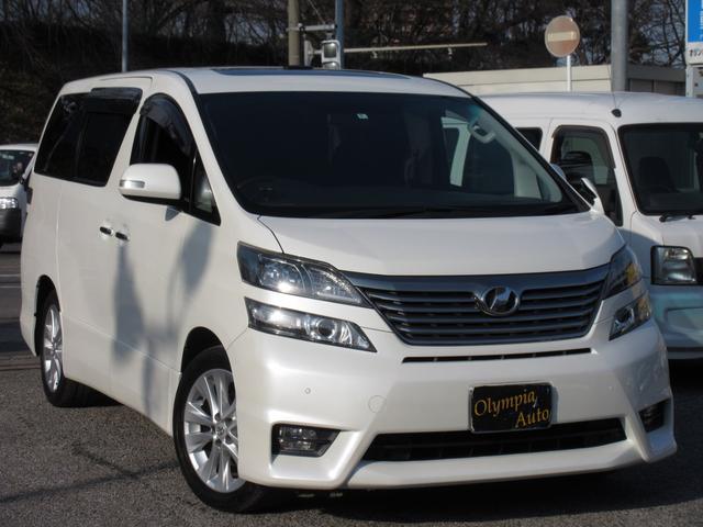 トヨタ 2.4Z両側電動ドアWサンルーフHDDナビワンオーナー