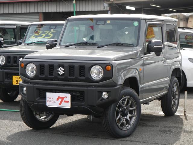 スズキ ジムニー XC 4WD ターボ 衝突被害軽減セーフティサポート 届出済未使用車 純正AW LEDヘッドライト スマートキー プッシュスタート シートヒーター オートエアコン セキュリティアラーム バイザー
