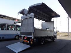 キャンター3.5トンカスタム 幌ウイング パワーゲート