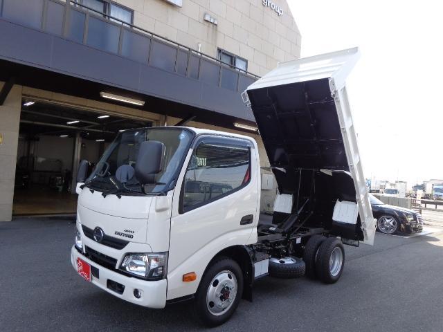 日野 4WD 2トン 全低床 強化ダンプ PCS