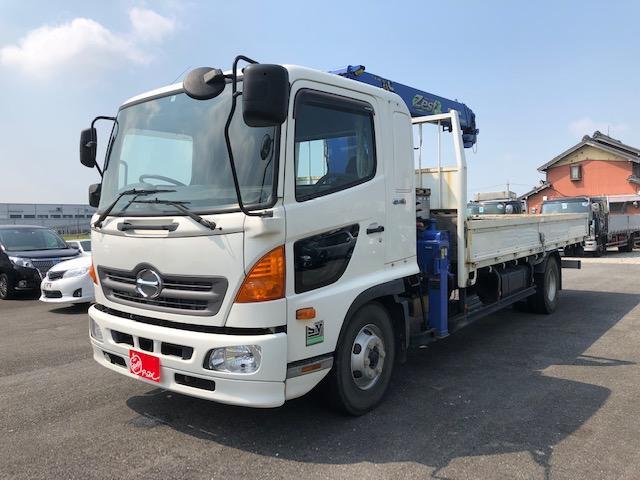 日野 タダノ4段クレーンラジコン積載2.45t 荷台550X210