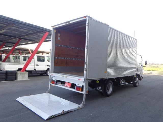 いすゞ エルフトラック  積載2トン ワイドロング アルミバン 跳ね上げゲート