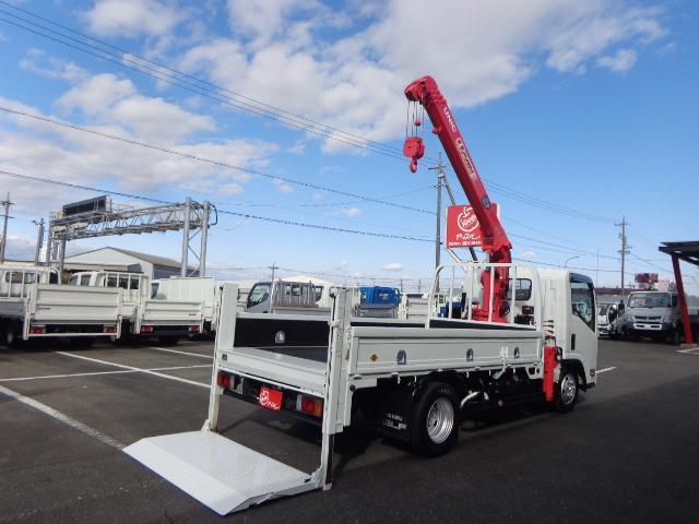 いすゞ  2.7トン 4段ユニッククレーン ラジコン 垂直パワーゲート